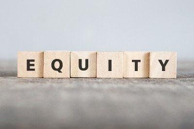 Blocks spelling the word 'Equity'